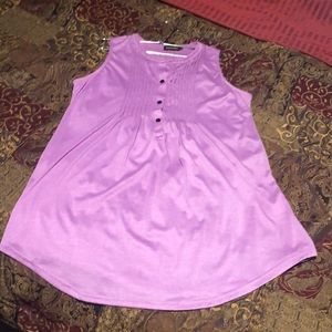 Tunic sleeveless Lilac color with black buttons